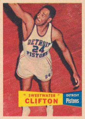 1957 Topps Nat Clifton #1 Basketball Card