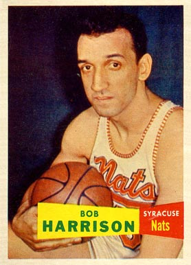 1957 Topps Bob Harrison #63 Basketball Card