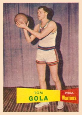 1957 Topps Tom Gola #44 Basketball Card