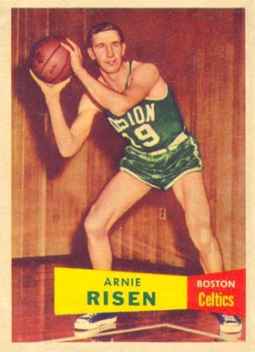 1957 Topps Arnie Risen #40 Basketball Card