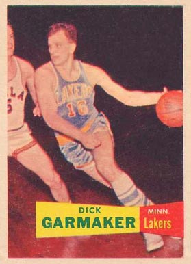 1957 Topps Dick Garmaker #23 Basketball Card