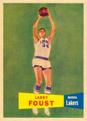 1957 Topps Larry Foust #18 Basketball Card