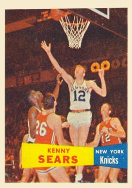 1957 Topps Kenny Sears #7 Basketball Card
