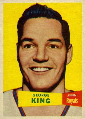 1957 Topps George King #6 Basketball Card
