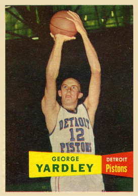 1957 Topps George Yardley #2 Basketball Card
