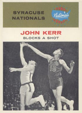 1961 Fleer John Kerr #56 Basketball Card