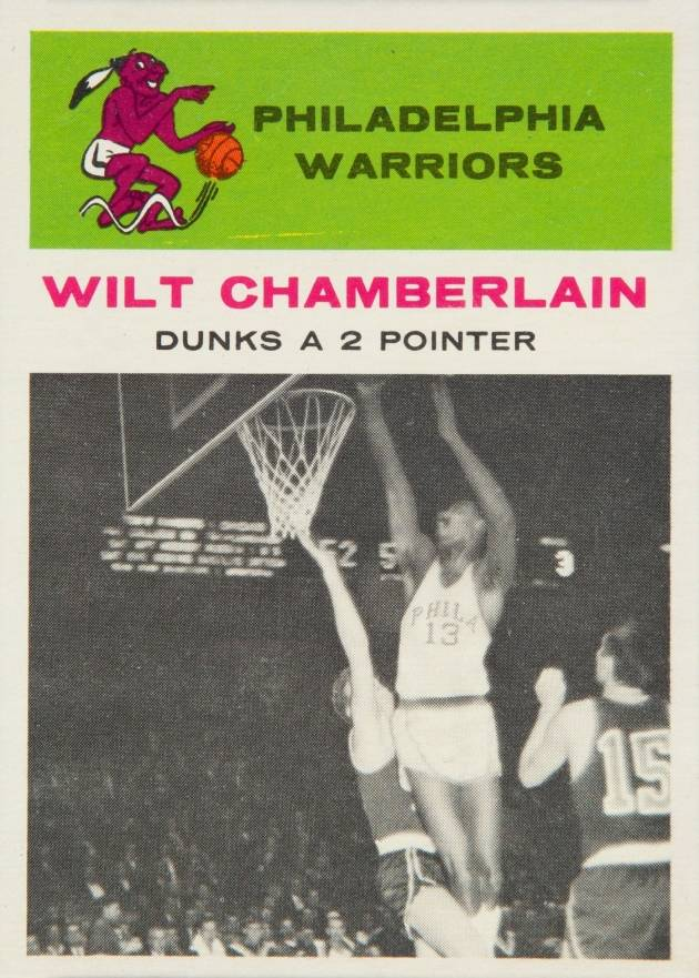 1961 Fleer Wilt Chamberlain #47 Basketball Card