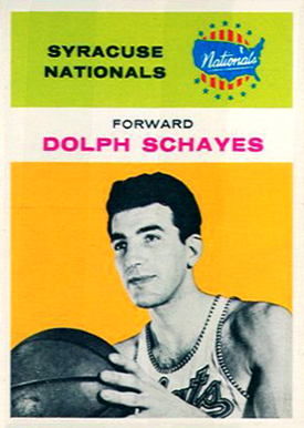 1961 Fleer Adolph Schayes #39 Basketball Card