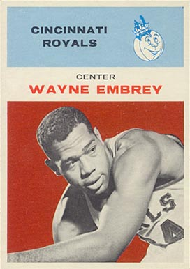 1961 Fleer Wayne Embry #12 Basketball Card