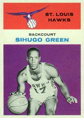 1961 Fleer Sihugo Green #15 Basketball Card