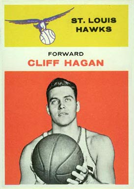 1961 Fleer Cliff Hagan #18 Basketball Card