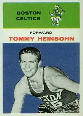 1961 Fleer Tom Heinsohn #19 Basketball Card
