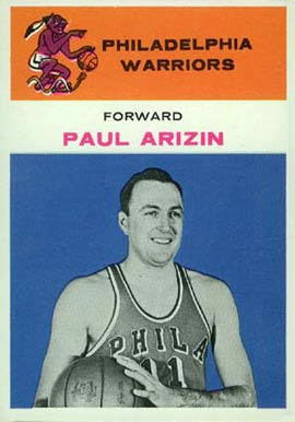 1961 Fleer Paul Arizin #2 Basketball Card