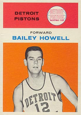 1961 Fleer Bailey Howell #20 Basketball Card