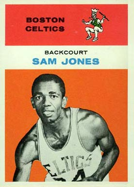 1961 Fleer Sam Jones #23 Basketball Card