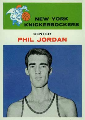 1961 Fleer Phil Jordan #24 Basketball Card