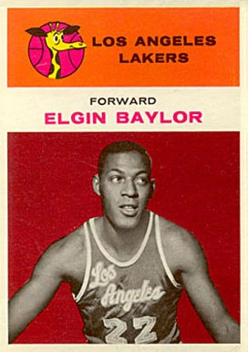 1961 Fleer Elgin Baylor #3 Basketball Card