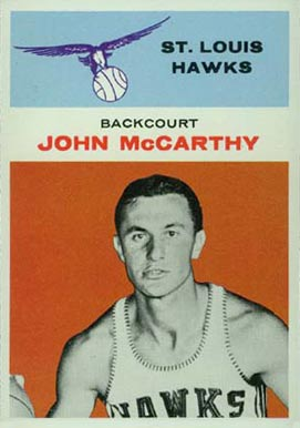 1961 Fleer John McCarthy #30 Basketball Card
