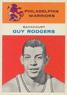 1961 Fleer Guy Rodgers #37 Basketball Card