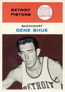 1961 Fleer Gene Shue #41 Basketball Card