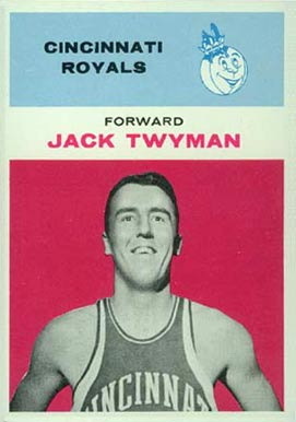 1961 Fleer Jack Twyman #42 Basketball Card