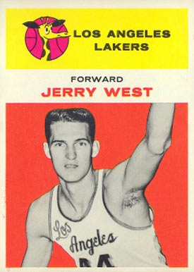 1961 Fleer Jerry West #43 Basketball Card