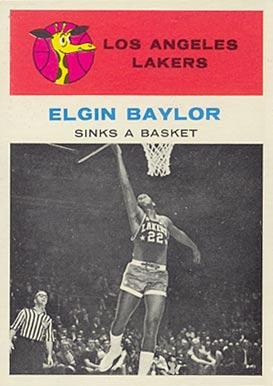 1961 Fleer Elgin Baylor #46 Basketball Card