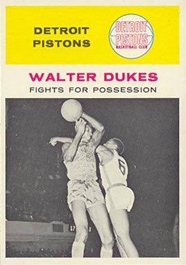 1961 Fleer Walter Dukes #50 Basketball Card