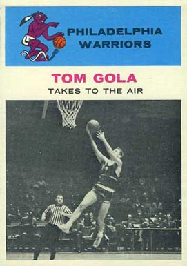 1961 Fleer Tom Gola #51 Basketball Card