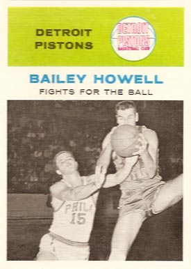 1961 Fleer Bailey Howell #55 Basketball Card