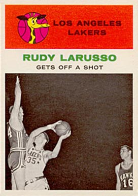 1961 Fleer Rudy Larusso #57 Basketball Card
