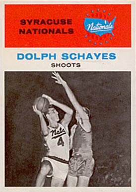 1961 Fleer Adolph Schayes #63 Basketball Card
