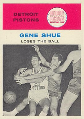 1961 Fleer Gene Shue #64 Basketball Card