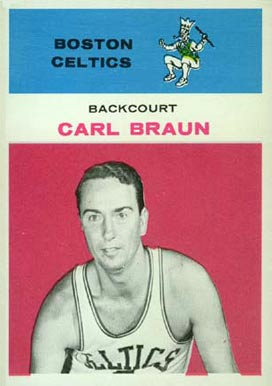 1961 Fleer Carl Braun #7 Basketball Card