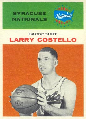1961 Fleer Larry Costello #9 Basketball Card