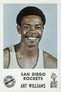 1968 Jack in the Box San Diego Rockets Art Williams #13 Basketball Card