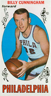 1969 Topps Billy Cunningham #40 Basketball Card