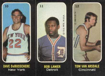 1971 Topps Trios Stickers Dave Debusschere #10 Basketball Card