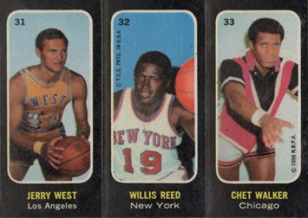 1971 Topps Trios Stickers Jerry West #31 Basketball Card