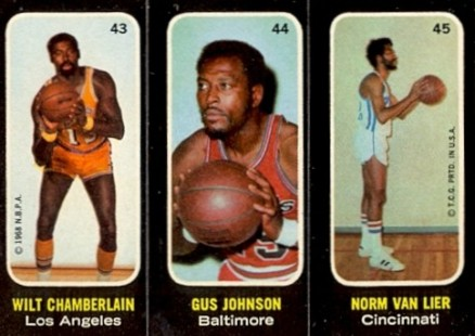 1971 Topps Trios Stickers Wilt Chamberlain #43 Basketball Card