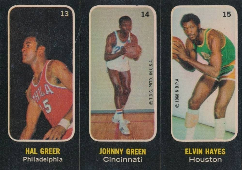 1971 Topps Stickers Greer/Green/Hayes #13 Basketball Card