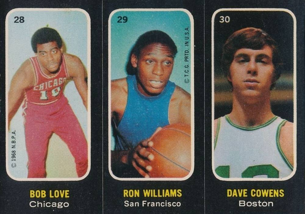 1971 Topps Stickers Love/Williams/Cowens #28 Basketball Card
