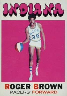 1971 Topps Roger Brown #225 Basketball Card