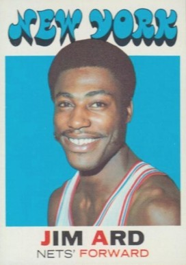 1971 Topps Jim Ard #191 Basketball Card