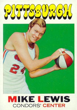 1971 Topps Mike Lewis #189 Basketball Card