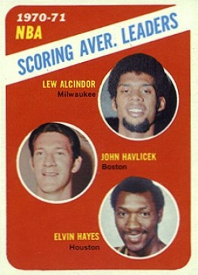 1971 Topps NBA Scoring Avg. Leaders #139 Basketball Card