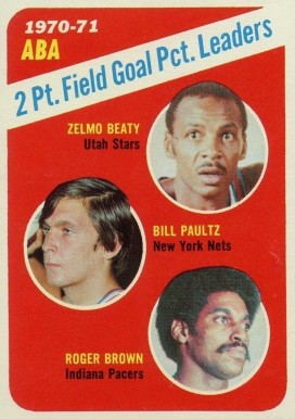 1971 Topps ABA 2-point Field Goal Pct. Leaders #148 Basketball Card