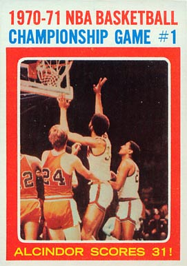 1971 Topps NBA Playoffs Game #1 #133 Basketball Card