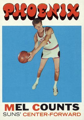 1971 Topps Mel Counts #127 Basketball Card