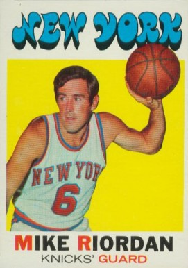 1971 Topps Mike Riordan #126 Basketball Card